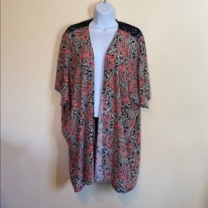 Pink and Black Paisley Cover Up Size Large